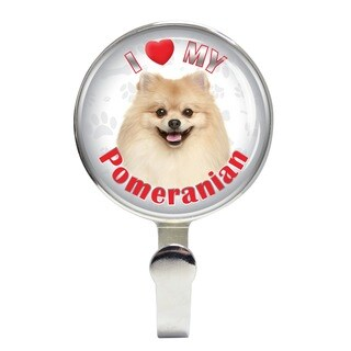 iLeesh I Love My Pomeranian Leash Holder