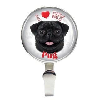 iLeesh I Love My Pug Black Leash Holder