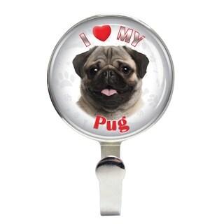 iLeesh I Love My Pug Fawn Leash Holder