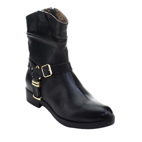 Excellent Life Stride XMoto Women Faux Leather Brown Ankle Boot Boots