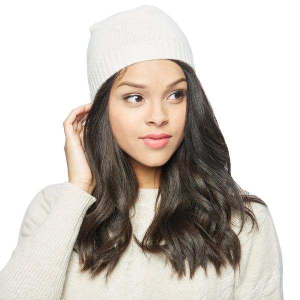 Cashmere 2-inch Rib Cuff Skull Hat
