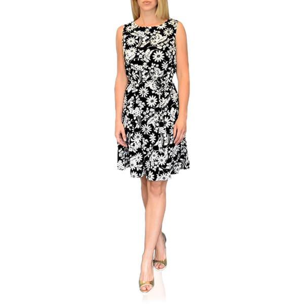 Peach Couture Women's Vintage Inspired All Over Floral Shift Dress