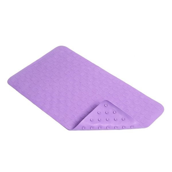 "Con-Tact Brand Lavender Geometric  Rubber Bath Mat, 27.25"" x 15.5"" (Pack of 4) 15852203"