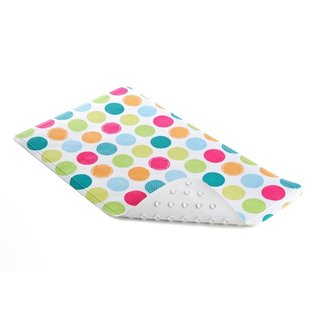 Con-Tact Brand Bright Colorful Spots Rubber Bath Mat (Pack of 4)