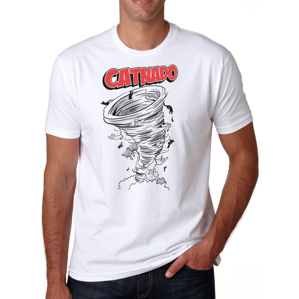 Mens Catnado Funny Cat Tornado T-Shirt