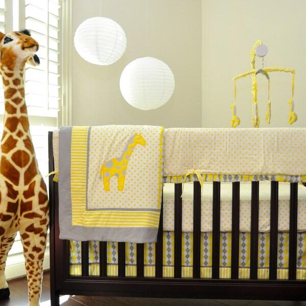 Pam Grace Creations Argyle Giraffe Crib Bedding Set