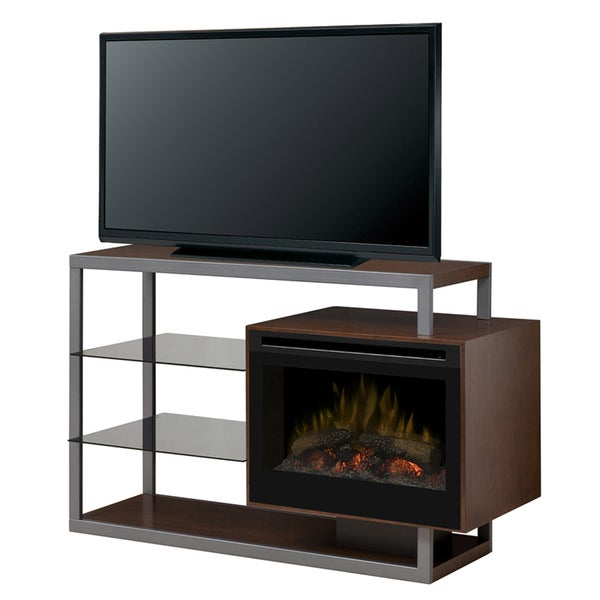 Hadley Reversable or Double sided Media console Electric Fireplace