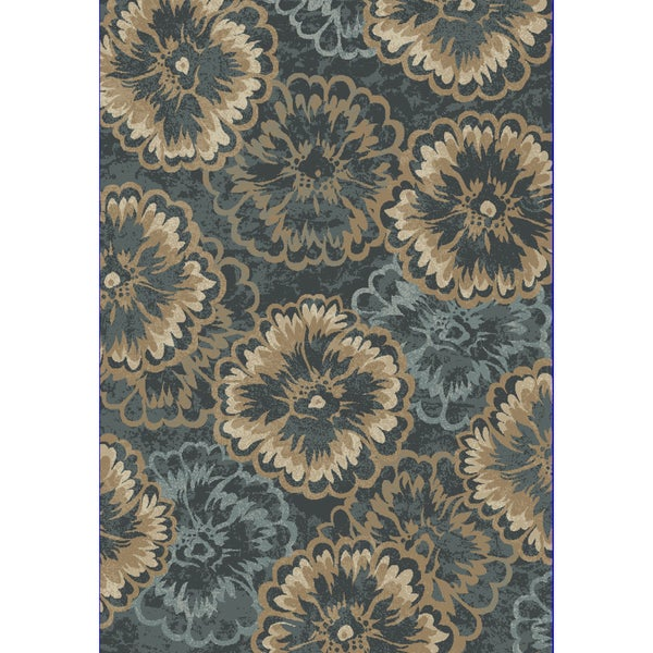 Cappella Floral Anthracite Area Rug (7'10 x 10'10) -  Dynamic Rugs