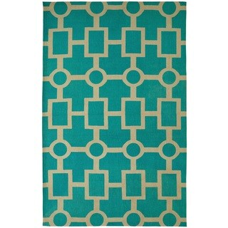Juniper Geometric Light Blue Area Rug (5' x 8')