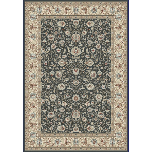 Cappella Traditional Floral Anthracite Area Rug (7'10 x 10'10) -  Dynamic Rugs