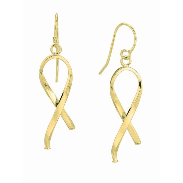 14k Yellow Gold Hook Earrings