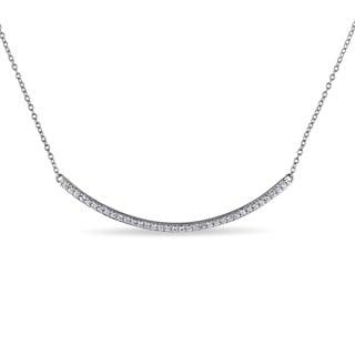 Miadora Sterling Silver White Topaz Necklace