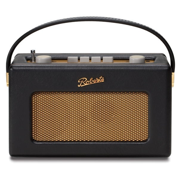 Robert's Radio, 1950's Style Retro Radio in a Black Leather Cloth Finish