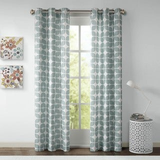 Intelligent Design Gwen Geometric Grommet Curtain Panel Pair