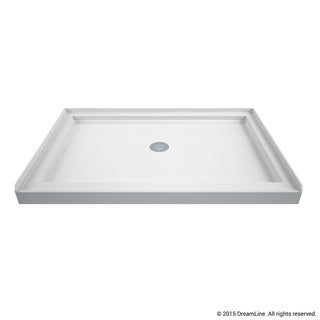 DreamLine Single Threshold Shower Base 2.75 in. H x 42 in. W x 34 in. L Center Drain Base