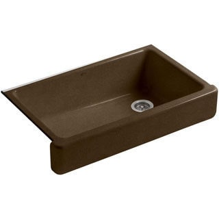 Kohler Whitehaven Undermount Cast Iron 35.5 inch 0-hole Single Bowl Kitchen Sink