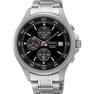 Seiko Men's SKS477 Stainless Steel Chronograph Date Window Watch