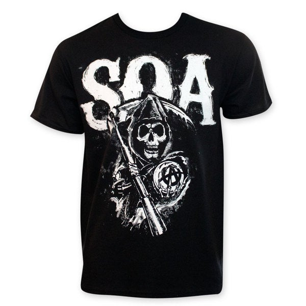 Men's Sons Of Anarchy Reaper Logo Black T-Shirt