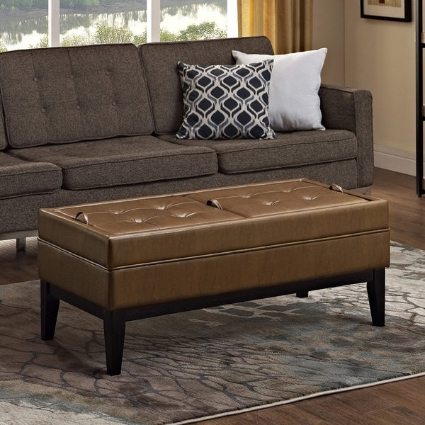 WYNDENHALL Barrington Storage Ottoman Bench with 2 Trays