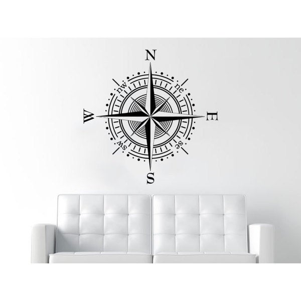 Bathroom Decor Compass Decor Black Vinyl Sticker Wall Art 15860768