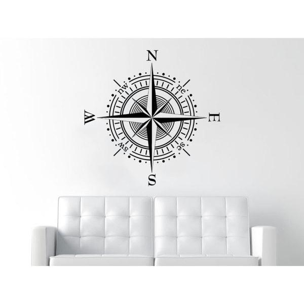 Bathroom Decor Compass Decor Black Vinyl Sticker Wall Art 15860768