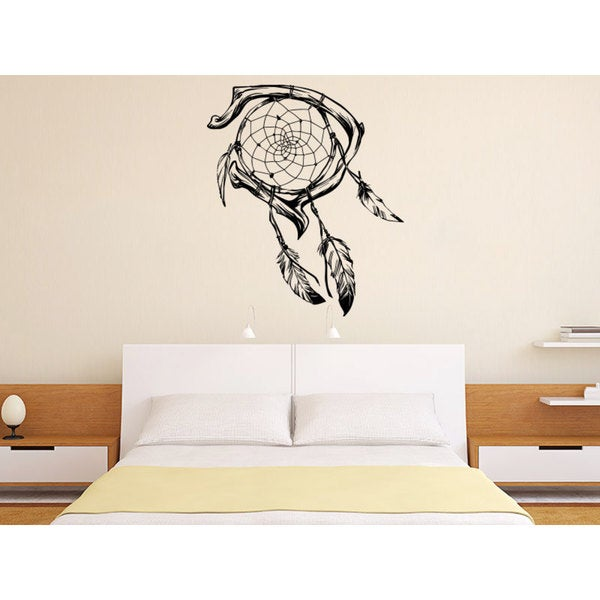 Living Room Wall Decor Dreamcatcher Black Vinyl Sticker Wall Art