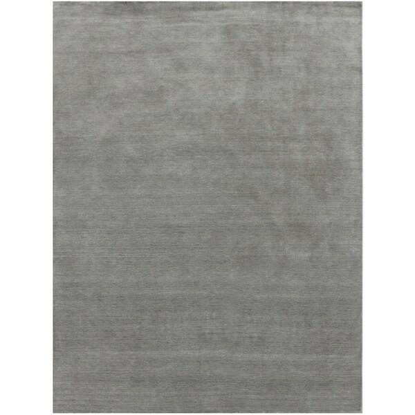 Hand-loomed Arizona Abstract New Zealand Wool Grey Rug (8' x 10')