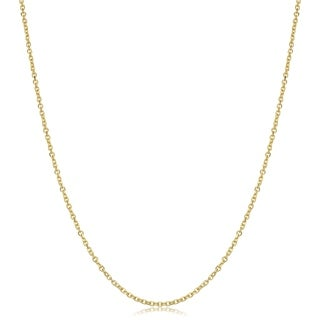 Fremada 14k Yellow Gold Diamond-cut Cable Chain (16 - 24 inches)