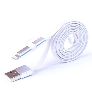 2-in-1 3.2-foot Lightning Cable/ Micro USB Charging Cable