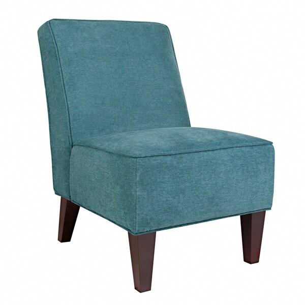 Angelo Home Dover Parisian Teal Blue Velvet Chair
