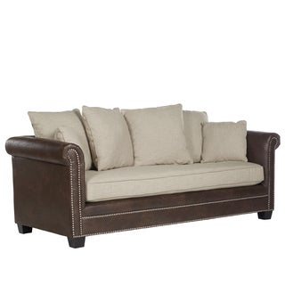 angelo:HOME Cobble Hill Oat and Brown Sofa