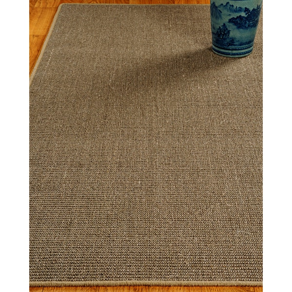 Hand-crafted Empress Sisal Brown Rug (4'x6')