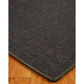 Hand-crafted Encore Sisal Black Rug (8'x10')