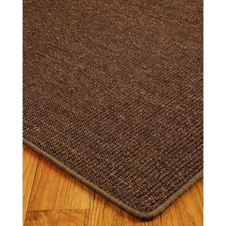 Hand-crafted Exotics Sisal Brown Rug (8'x10')