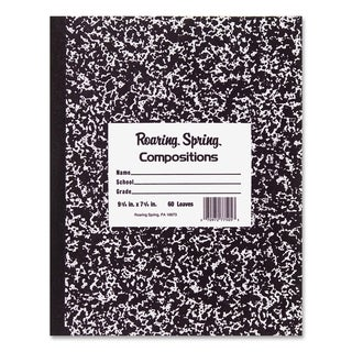 Roaring Spring Wide Rule 60 Sheet Marble Composition Book