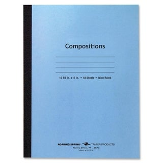 Roaring Spring Wide Rule 48 Sheet Blue Composition Notebook