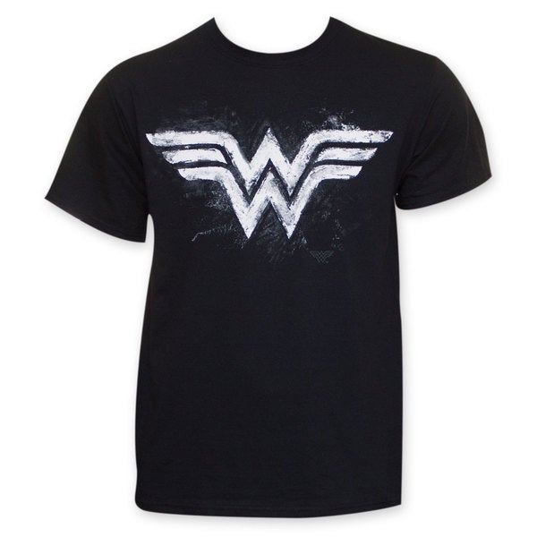 Men's Wonder Woman Sidewalk Chalk Logo T-Shirt