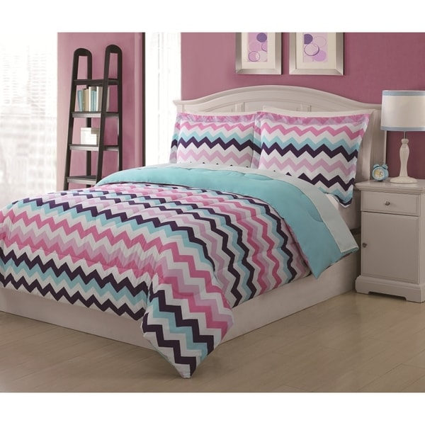Lil Jax Multi Chevron Reversable Comforter Set