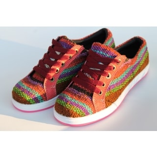 ANDIZ Women's Handmade Multi-colored, Brown Low-cut Wool Oxford Shoes