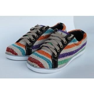 ANDIZ Handmade Low-cut Multicolored/ Black Wool/ European Size 41 Oxford Shoes (Ecuador)