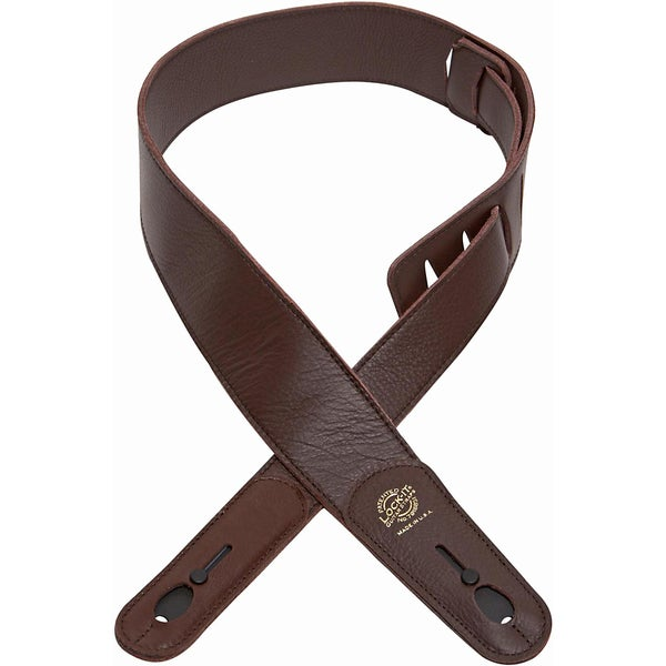 Lock-it Straps Professional 2-inch Brown Chocolate Leather Strap