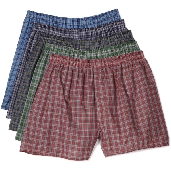Fruit of The Loom Men's Tartan Plaid 5 Pack Boxers