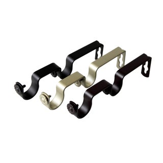 Pair of Double Brackets for 1 inch Rod