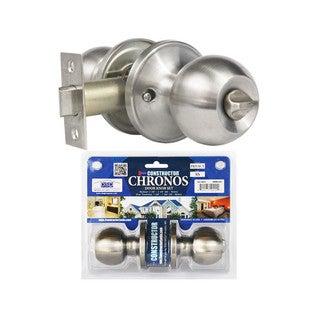 Chronos Privacy Stainless Steel Finish Door Lever Lock Set Knob Handle Set