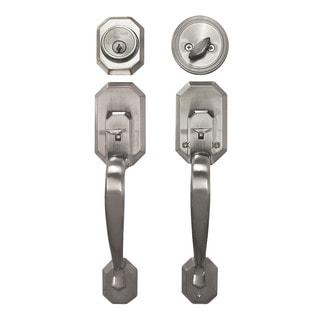 Cerberus Entry Hand Set Door Lock Lever Satin Nickel Finish Door Lock Lever Handle Set