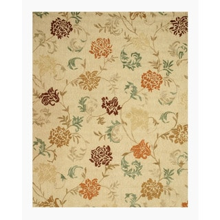 EORC Hand-tufted Wool Beige Looped Pile Carolina Rug (7'9 x 9'9)