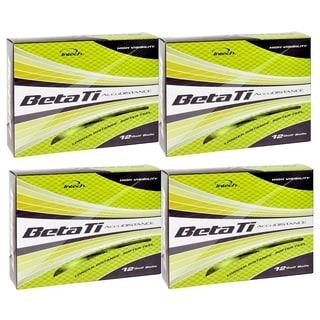 Intech Men's Beta Ti AccuDistance Golf Balls Hi-Visibility Yellow (Pack of 48)