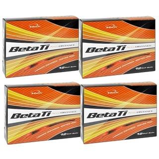 Intech Men's Beta Ti AccuDistance Golf Balls Hi-Visibility Orange (Pack of 48)