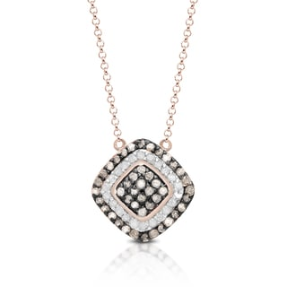 1/2 ct TDW Brown and White Fashion Diamond Accent Necklace