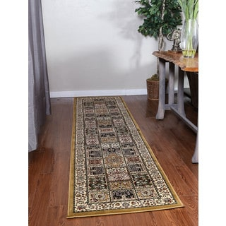 Oh! Home Persian Treasures Bakhtiari Oriental Polypropylene Runner Rug (2'3-inch x 10')